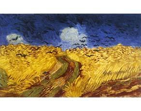 Champ de blé aux corbeaux, Vincent van Gogh (1890)