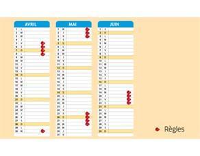 Le calendrier d'une autre femme ayant un cycle régulier