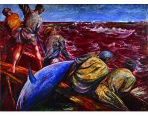 Scène de pêche au thon (Le Massacre), ALIGI SASSU, 1912/2000.