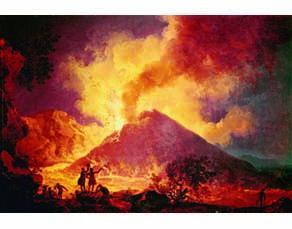Une éruption du Vésuve, peinture de Pierre-Jacques Volaire, XVIIIe siècle