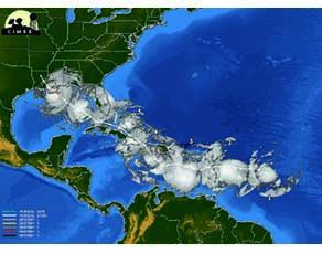 Déplacement de l'ouragan Isaac en 2012