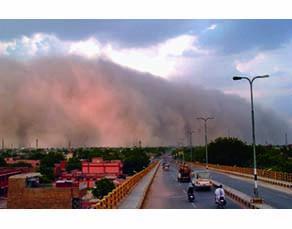 Une tempête de sable dans le Nord-Ouest de l'Inde, en 2013