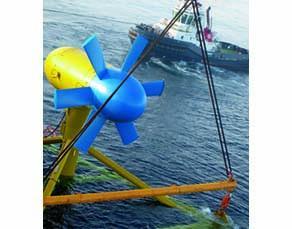 Installation d'une hydrolienne au large de la Bretagne