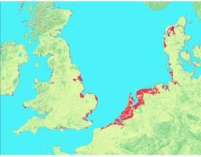 La montée du niveau des mers, conséquence du changement climatique