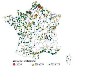 Les tornades répertoriées en France entre 1680 et 2013