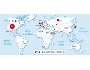 Émissions de CO2 (en Gt) dues à l'utilisation du pétrole en 1961