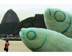 The Big Fishes, plage de Botafogo, Rio de Janeiro, 2012.