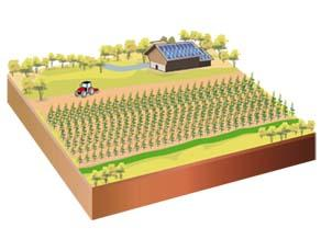 Une ferme autonome, connectée, préservant les cours d'eau alentour et son propre sol