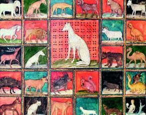 """Miniature extraite du """"Livre des propriétés des choses"""", Jean Corbechon, XIVe siècle, bibliothèque municipale de Reims"""