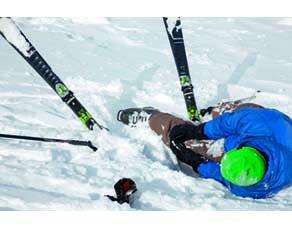 Entorse due à une chute à ski