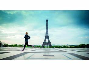 Entraînement d'une marathonienne à Paris