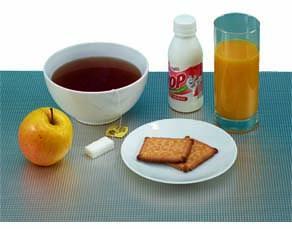 Le petit déjeuner pris ce matin par Lucas