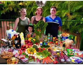 Aliments consommés par une famille australienne pendant une semaine