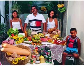 Aliments consommés par une famille cubaine pendant une semaine