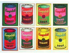 Campbell's Soup Cans, Andy Warhol (détail), 1965.