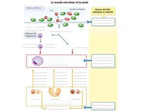 Le monde microbien et la santé - à compléter