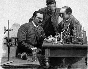 Emil Adolf von Behring dans son laboratoire, dans les années 1890
