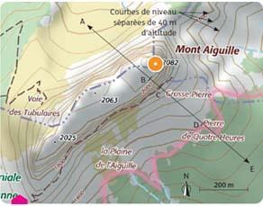 Carte topographique du mont Aiguille