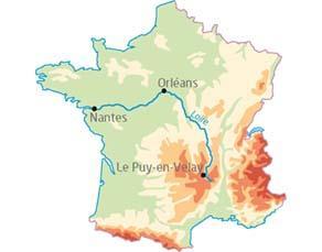 Localisation de la Loire en France