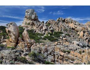 Altération et érosion d'un massif de granite (région de Propriano, Corse-du-Sud)