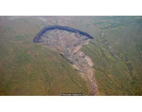 Résultat de la fonte du pergélisol en Sibérie