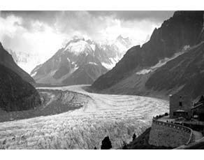 Les Alpes, la Mer de glace en 1920