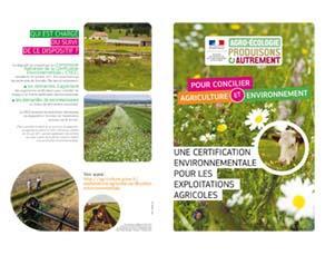 Plaquette d'information sur la certification des exploitations agricoles