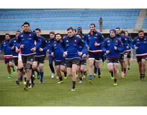 Entraînement de l'équipe de France de rugby