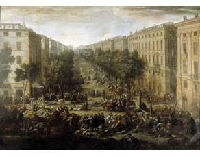 Vue du Cours (de Marseille) pendant la peste de 1720